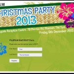 FUJIFILM Christmas Party RSVP System