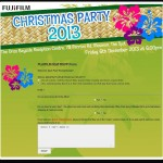 FUJIFILM Christmas Party RSVP System - Form page