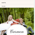 Wedding website with responsive Design